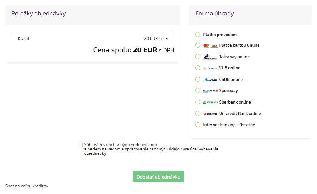 Kreditný systém 4 - platobná brána 160934