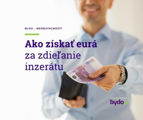 Ako získať eurá za zdieľanie inzerátu