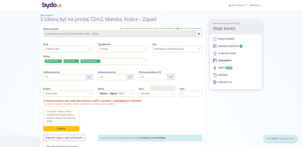 Ako získať eurá za zdieľanie inzerátu - Pridanie inzerátu 627262
